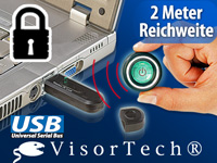 VisorTech USB-Funkschlüssel Wireless PC-Lock